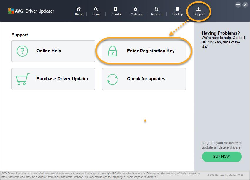 avg driver updater free registration key