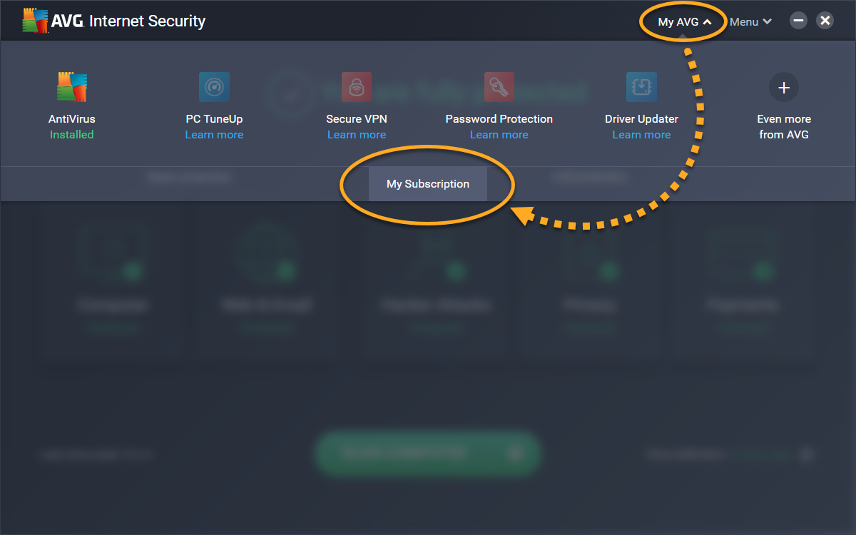avg internet security 2018 key serial