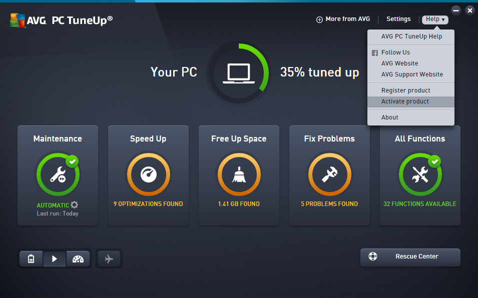 avg pc tuneup 2018 product key latest