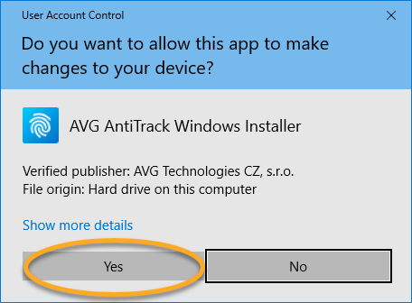 Installing AVG AntiTrack on Windows | AVG Support