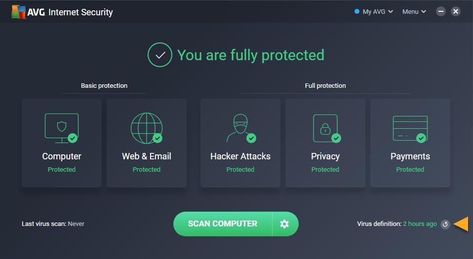 definiciones de virus no actualizadas