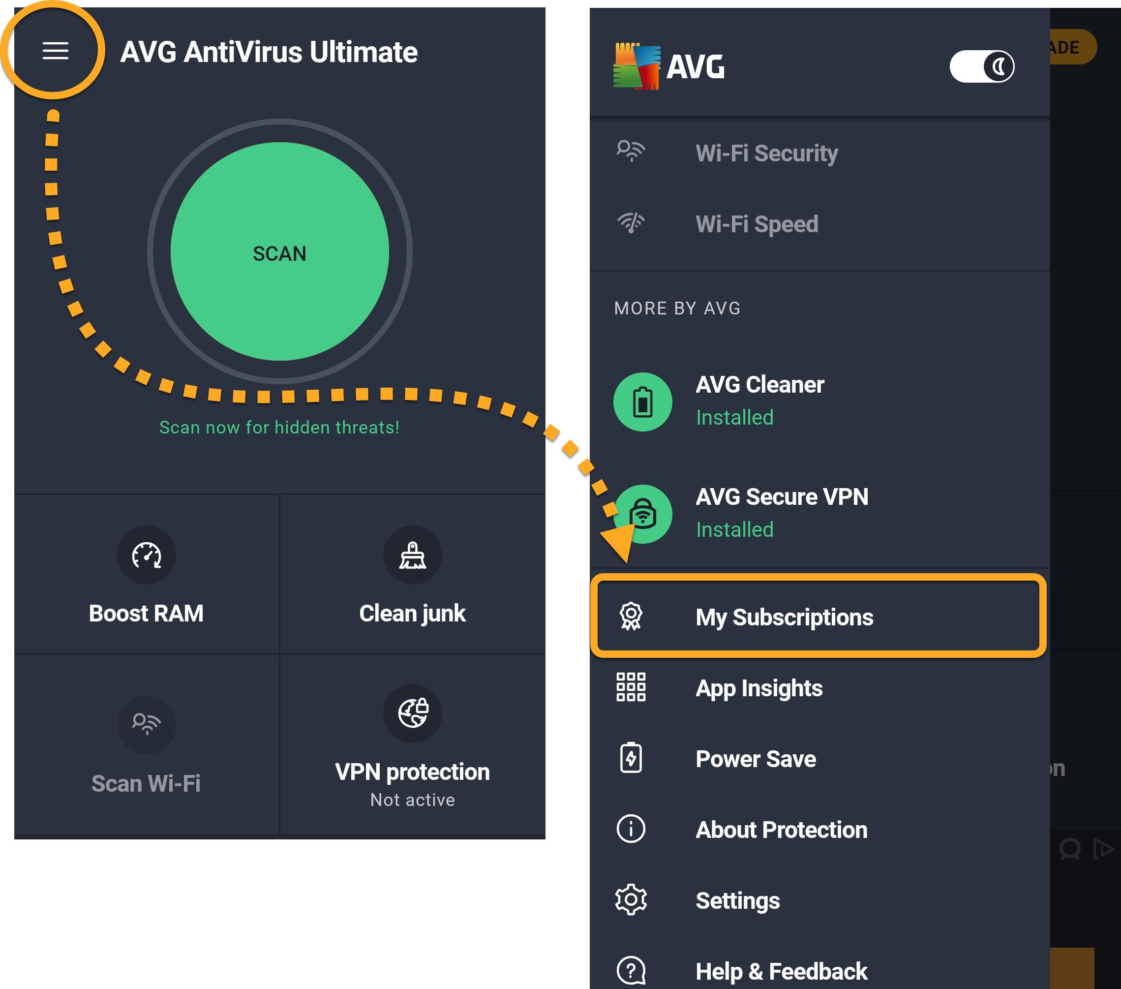 Aktivace placené verze aplikace AVG AntiVirus pro An...   AVG Podpora